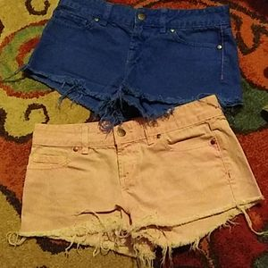 Pink brand size 0 cut off shorts